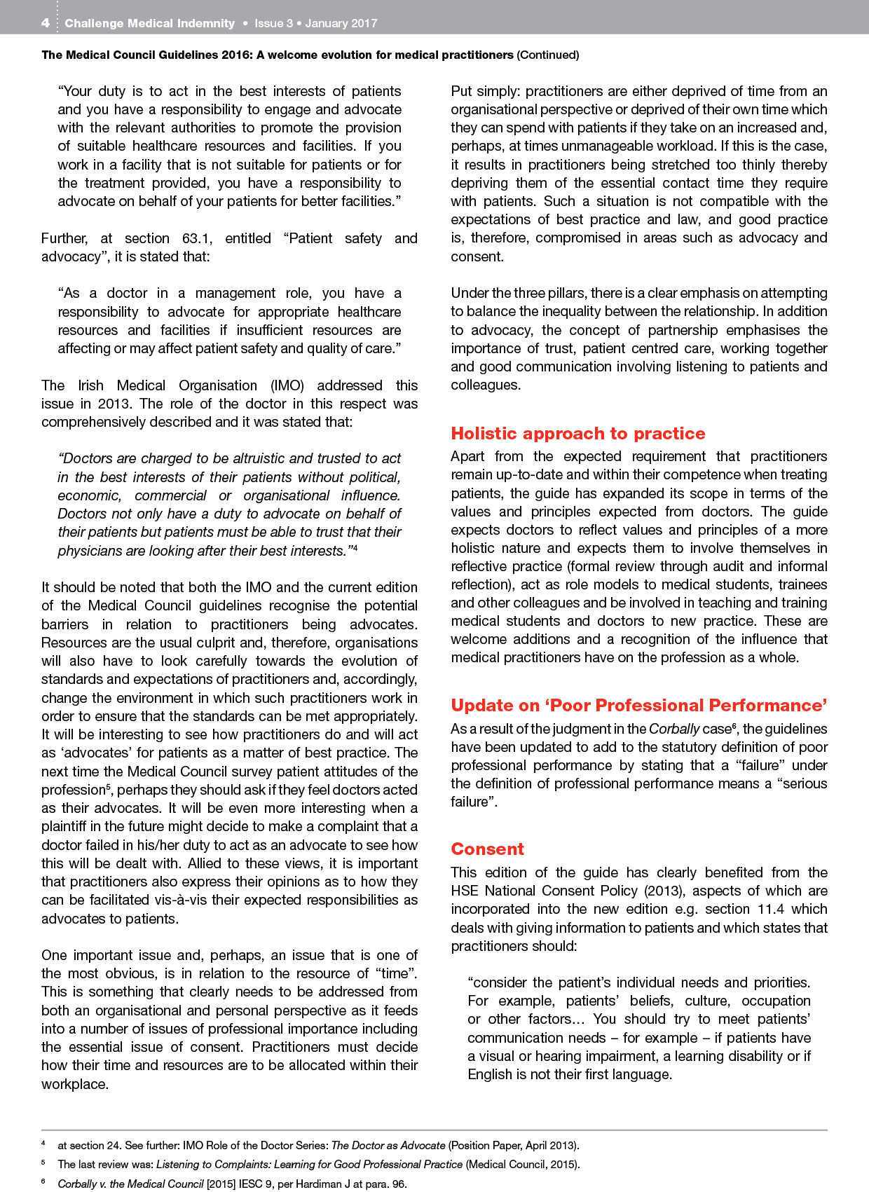 Challenge Indemnity Newsletter - Issue 3, Jan 2017